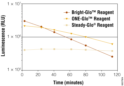 Extended bright light output allows high-sensitivity assays to be run in batch or continuous operations.